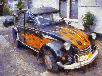 2cv Digital Art - Citroen 2cv by Robert Hayes