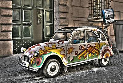 Citroen In Rome Art Print