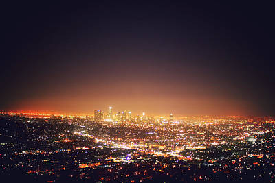 Citscape At Night Print by I want to experience the world. The sceneries. The cultures.