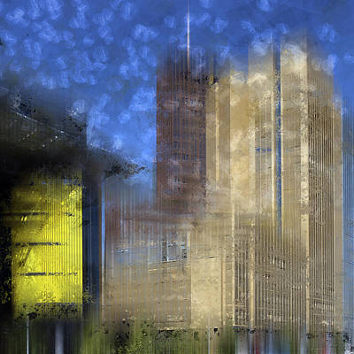 Abstract Sights Digital Art - City-art Berlin Potsdamer Platz I by Melanie Viola