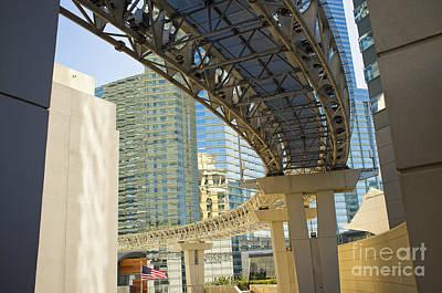 City Center Monorail Tram Las Vegas Art Print