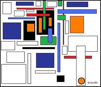 Digital Art - City Colors 4 by B L Qualls