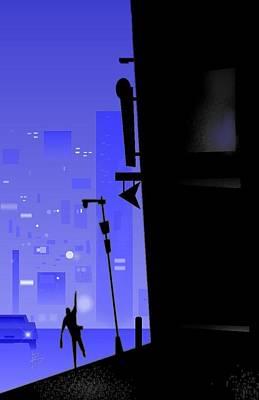 'city Corner' Art Print by Bryan  Rhoads