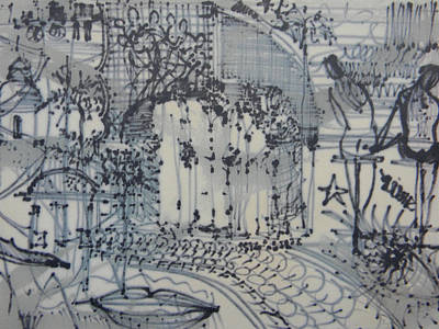 Lebanon Art Drawing - City Doodle by Marwan George Khoury