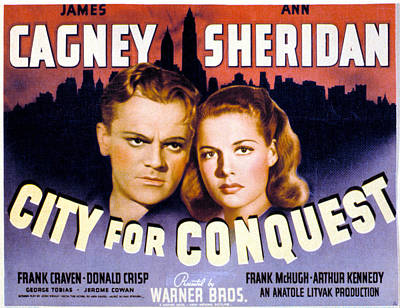 City For Conquest, James Cagney, Ann Art Print