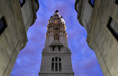 Photograph - City Hall At Night by Andrew Dinh