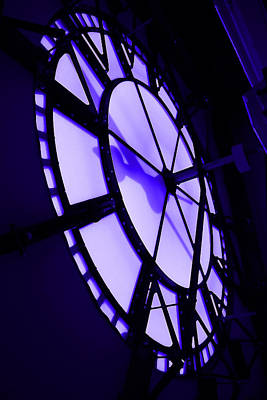 Digital Art - City Hall Clock Face Inside by Geoff Strehlow