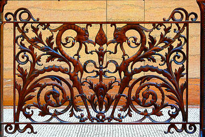 Digital Art - City Hall Iron Work by Geoff Strehlow