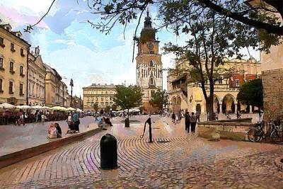 City Hall Digital Art - City-hall Krakow by Boguslaw Florjan
