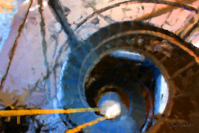 Digital Art - City Hall Spiral Abstract by Geoff Strehlow