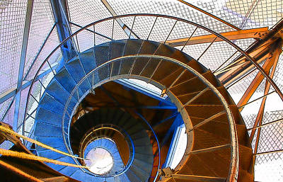 Digital Art - City Hall Spiral by Geoff Strehlow
