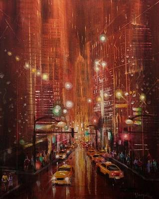 City Lights 2 Art Print by Tom Shropshire