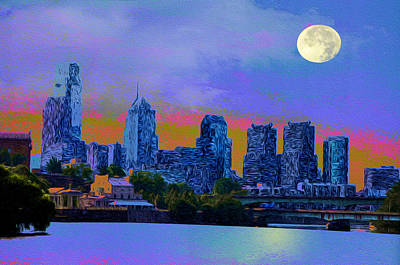 City Nights Art Print by Bill Cannon
