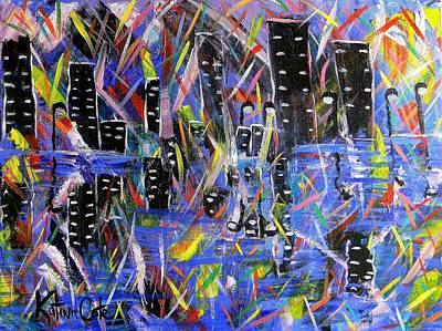 Night Out Painting - City Nights by Katina Cote