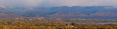 City Of Boulder Colorado Panorama View Art Print