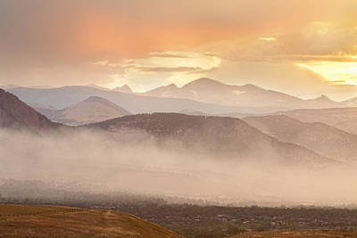 Photograph - City Of Boulder Colorado Smoky Overlook  by James BO Insogna