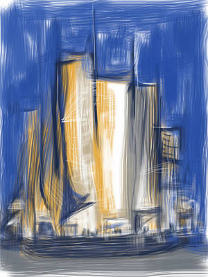 Mixed Media - City Of Sails by Russell Pierce