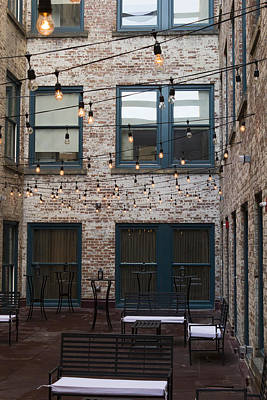 Lafayette Photograph - City Patio by Peter Chilelli