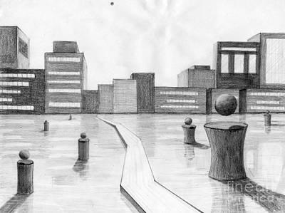 City Scene Art Print by Alyssa Barilar