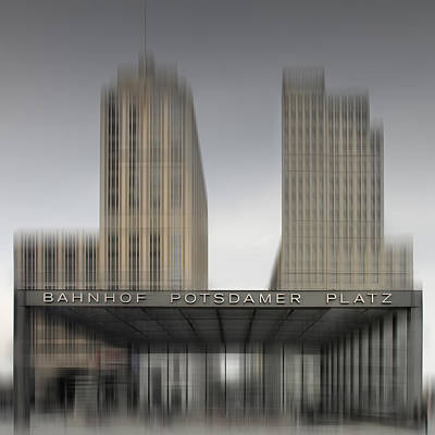 Traffic Digital Art - City-shapes Berlin Potsdamer Platz by Melanie Viola