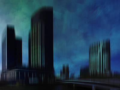 Victoria Digital Art - City Shapes Melbourne I by Melanie Viola