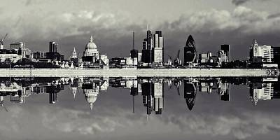 London Skyline Photograph - City by Sharon Lisa Clarke