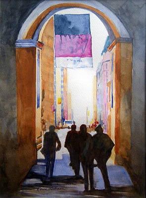 City Silhouette Original by Karen Liebman