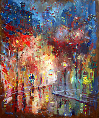 Painting - City Street by Viola El