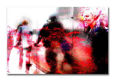 City Street Reflections Art Print by Mal Bray