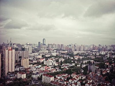 Y120817 Photograph - City View Of Shanghai, China by Copyright by RanRan