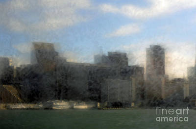 Impresionist Photograph - City View Through Window 3 by Catherine Lau