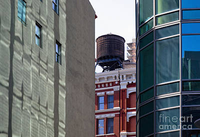 City Water Tower Print by Inti St. Clair