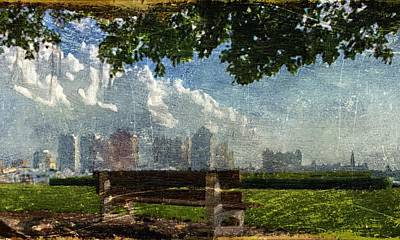Art Print featuring the digital art Citybench by Andrea Barbieri