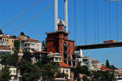 Photograph - Cityscape 6 - Fatih Sultan Mehmet Bridge Across The Bosphorus by Dean Harte