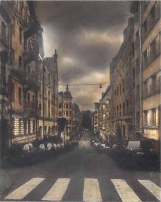 Pastel - Cityscape by John Brisson