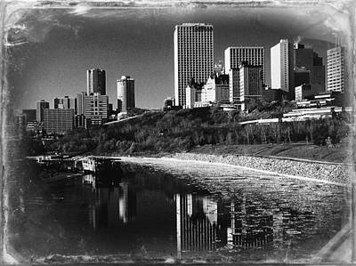 Scenery Photograph - Cityscape Of Edmonton by Shirley Sirois