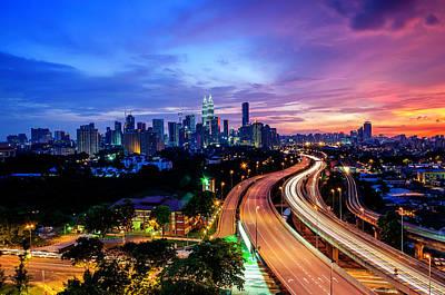 Long Tailed Photograph - Cityscape Of Kuala Lumpur by by Arief Rasa