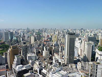 Cityscape Of São Paulo Art Print