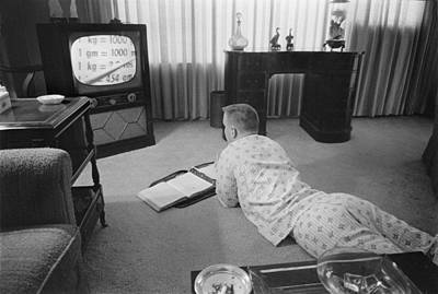 Civil Rights, Classes On Television Art Print by Everett