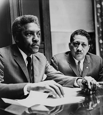 Civil Rights Leaders Bayard Rustin Art Print by Everett