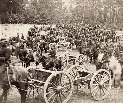 Photograph - Civil War: Artillery, 1862 by Granger