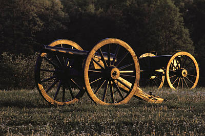 War Monuments And Shrines Photograph - Civil War Cannon And Caisson, Manassas by Medford Taylor