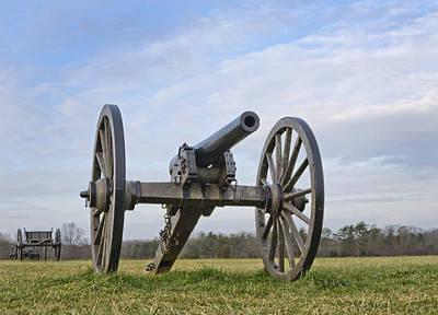 Civil War Cannon At Manassas National Battlefield Park - Virginia Art Print by Brendan Reals