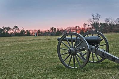 Civil War Cannon At Sunrise - Manassas Battlefield - Virginia Art Print by Brendan Reals