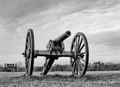 Civil War Canon - Manassas Battlefield - Virginia Print by Brendan Reals