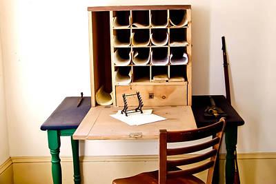 Civil War Desk Art Print by Trish Tritz