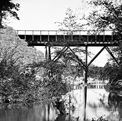 Photograph - Civil War: Foot Bridge by Granger