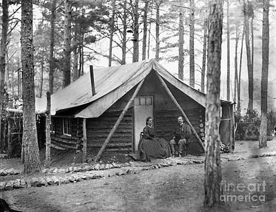 Civil War: Log Cabin, 1864 Art Print by Granger