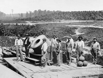 Photograph - Civil War Seige Mortar by Photo Researchers