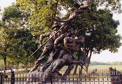 Photograph - Civil War Soldiers Monument by Barbara Plattenburg